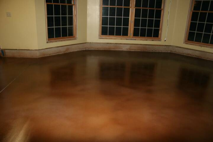 Stained Concrete Floors Diy Color Charts